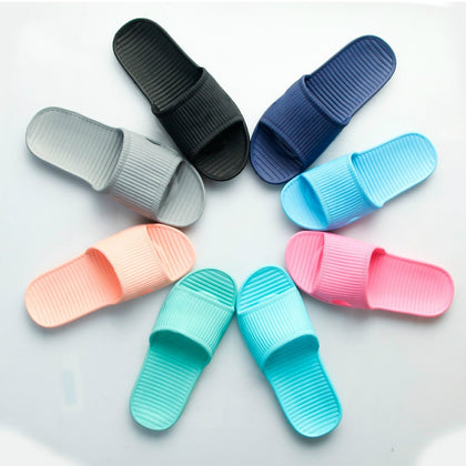 Summer Non-slip Flip Flops Bath Home Slippers