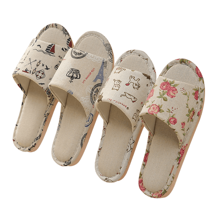 Women Casual Floral Indoor Home Slippers Flip Flop