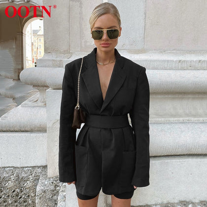 High Street Black Blazer Women Winter Female Jacket