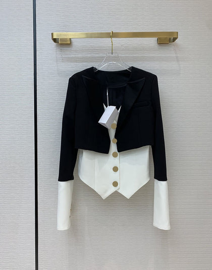 2 Piece Luxury Short Blazer