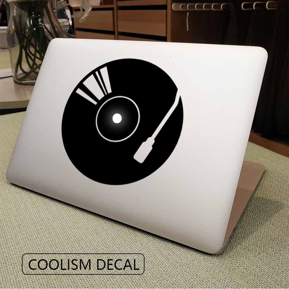 "DJ Jukebox Vinyl Creativity Laptop Decal for Apple MacBook 11"" 12"" 13"" 15"" Air Pro Retina Mac Computer Skin HP Notebook Sticker"