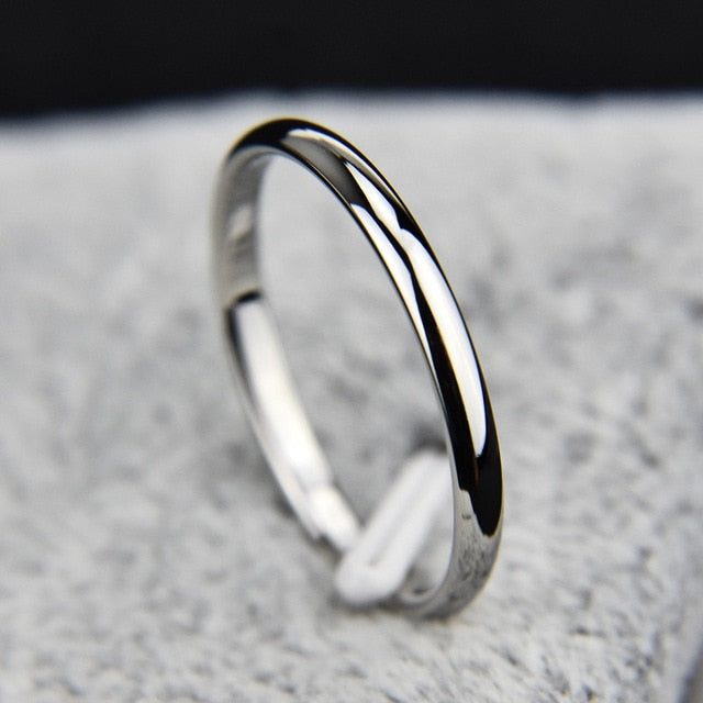 Titanium Steel  Rose Gold  Anti-allergy Smooth  Simple Wedding Couples Rings