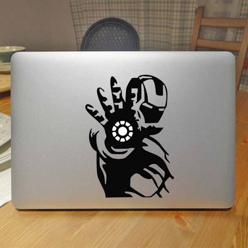 Iron Man Creative Decal Laptop Sticker for Apple Macbook Pro Decal Air Retina 11 12 13 15 inch Mac Surface Notebook Skin Sticker