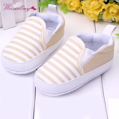 Infant Slip-On First Walkers Toddler Striped Canvas Sneaker