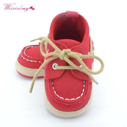 WEIXINBUY Baby Boy Girl Blue Sneakers Soft Bottom Crib Shoes