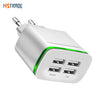 Universal 4 port USB charger adapter 4A travel charge LED lamp plug multi port HUB charger For iPhone iPad Samsung Xiaomi redmi