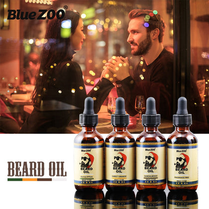 Natural Beard Oil 4 Tastes Beard Wax Balm Hair Loss Products Leave-In Conditioner