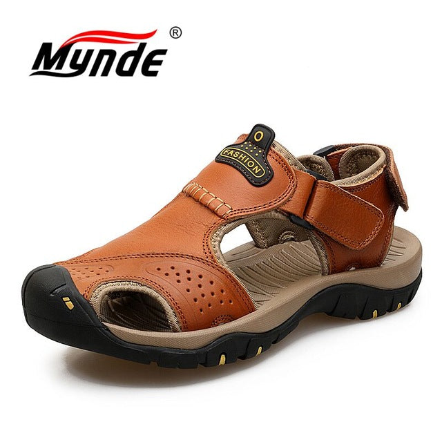 Genuine Leather Men Shoes Summer New Large Size Men's Sandals