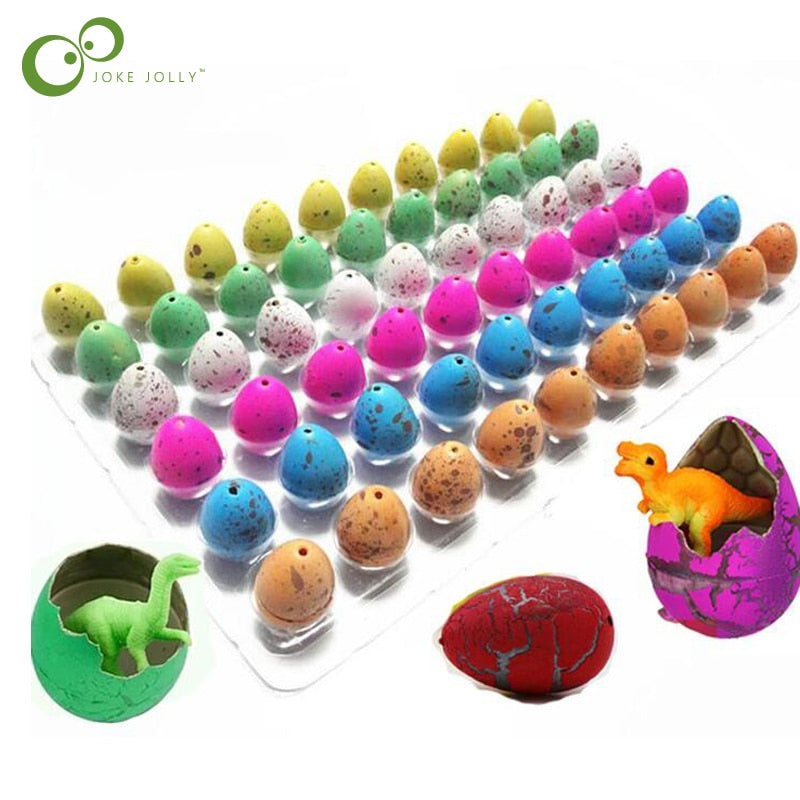 10pcs/lot Novelty Gag Toys Children Toys Cute Magic Hatching Growing Animal Dinosaur Eggs For Kids Educational Toys Gifts GYH