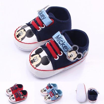 Newborn baby shoes girls cartoon soft sole comfortable toddler boys shoes