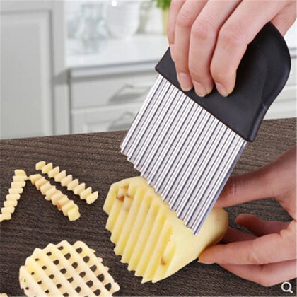 French Fries Cutter Stainless Steel Serrated Blade Easy Slicing