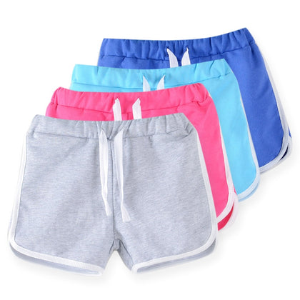kids clothing new  candy color girls short hot summer boys beach pants