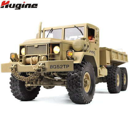 RC Truck Remote Control Vehicle Military Transporter Off-Road Monster 6WD Tactical 2.4G Rock Crawler Electronic Toys Kids Gift