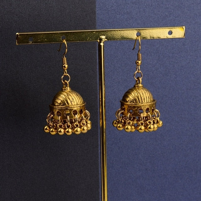 TopHanqi Retro Ethnic India Jhumka Jhumki Earrings