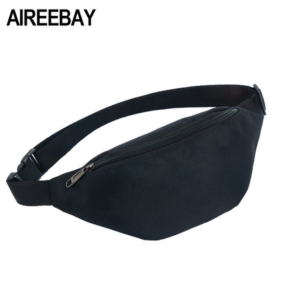 Women Men Fanny Pack Belt Bag Phone Pouch Bags Travel Waist Pack High Quality Small Bum Bag Nylon Pouch