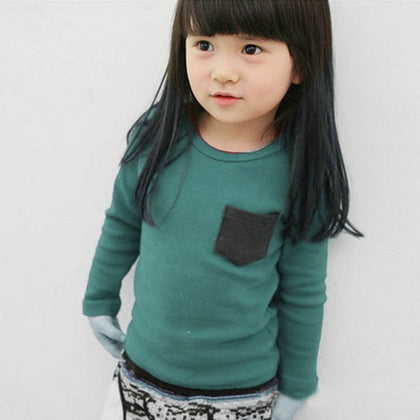 Autumn Toddler Baby T-shirt For Kids Girls Long Sleeve Tees