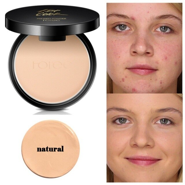 Mineral Pressed Powder Concealer Base Makeup Foundation Compact Powder