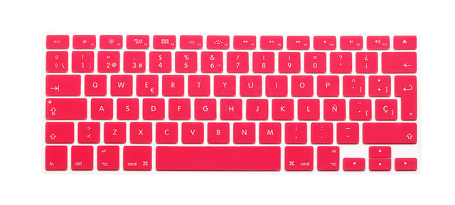 HRH Silicone Waterproof Silicone Keyboard Covers Skins Protector For Macbook Air Pro 13 15 17  for Mac book Spanish EU Version