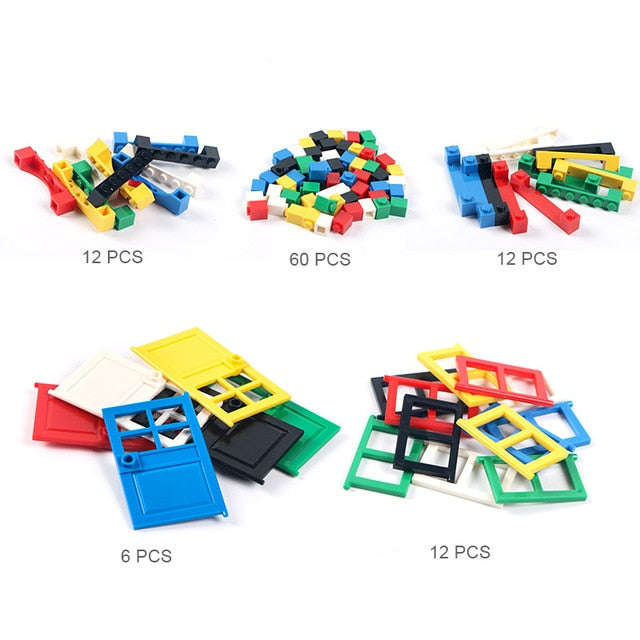 102pcs Door & Window Brick DIY House Building Blocks  Bricks Toys City Architect For Child Educational Compatible with Legoings