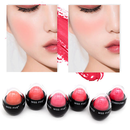 6 Colors Face Matte Cream Makeup Cheek Mineral Blusher