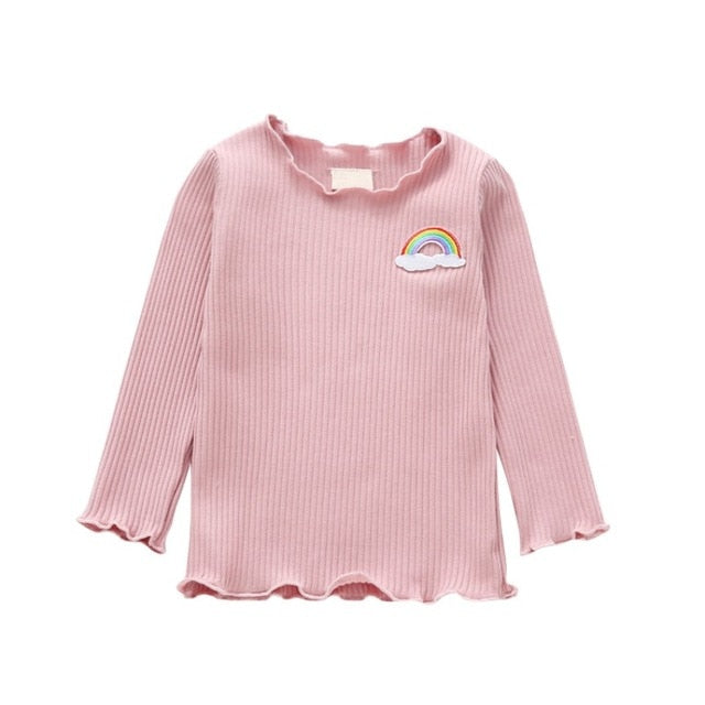 Baby Girl Thicken T-shirt Children Long Sleeve T-Shirts