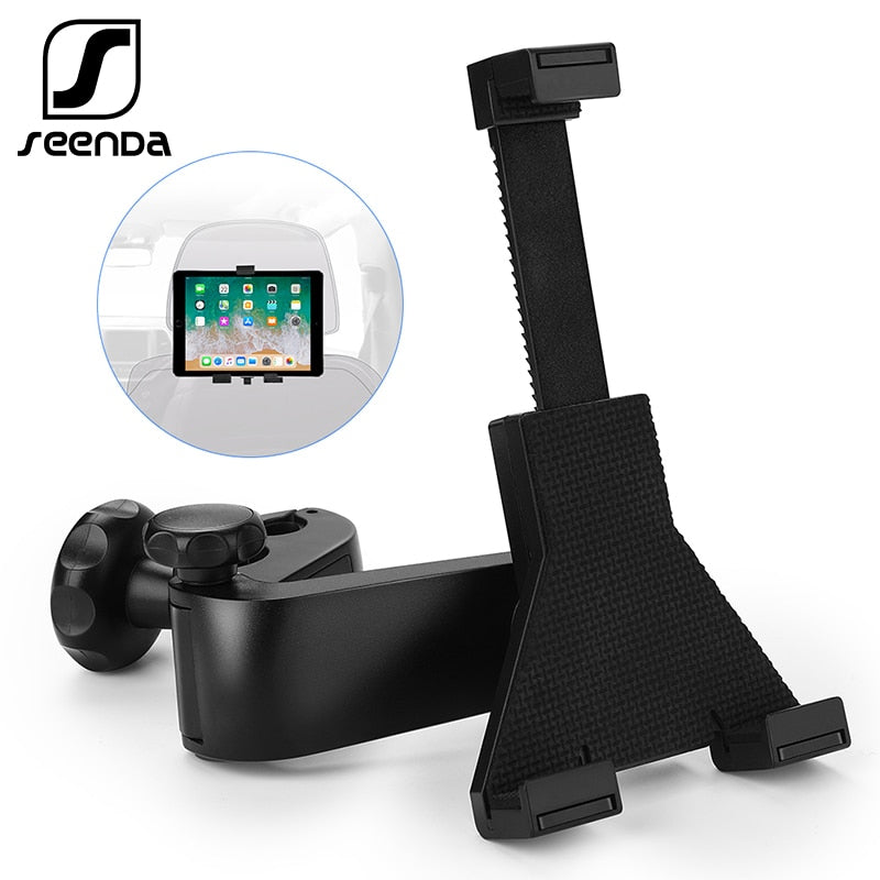 "SeenDa 360 Degree Rotation Car Headrest Tablet Stand Car Back Seat Mount Stand Holder For Tablet 7""-11"" Travel Bracket for iPad"