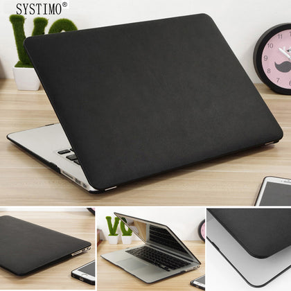 SYSTIMO PU Leather Case for Apple Macbook Pro 13 Case Air 13 11 Pro Retina 12 13.3 15 Laptop Bag Cover for Mac Book Air13 A1932