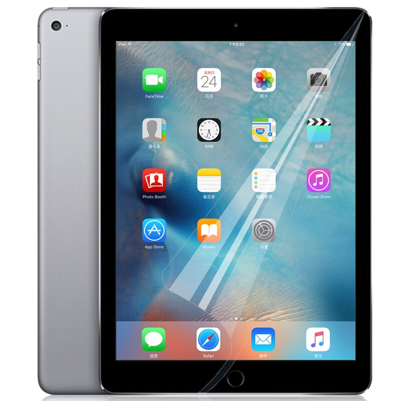 Not Tempered Glass For iPad 2 3 4 Clear Soft Screen Protector Front Screen Guard Protective Film For iPad mini 2 3 4 IPad Pro