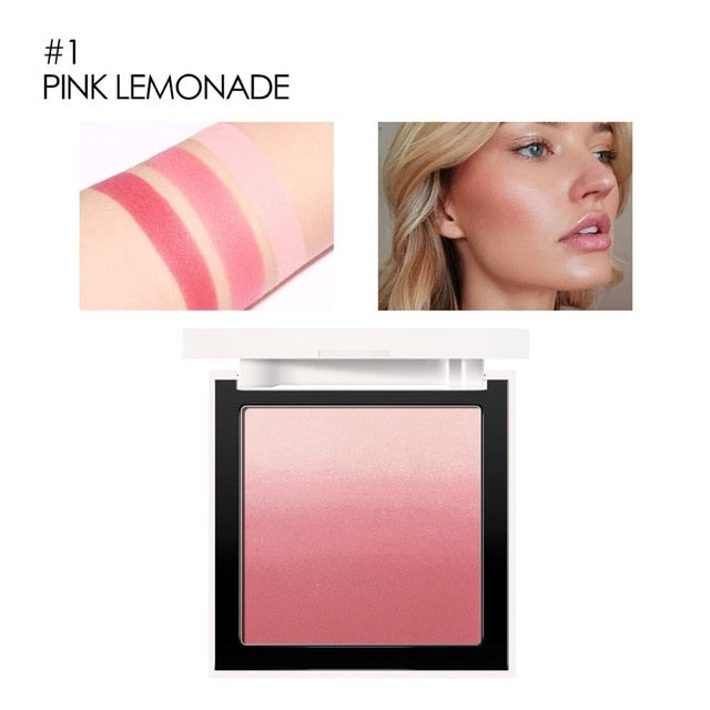 4 Colors Makeup Face blush Silky Cream Transparent Powder Ombre Blusher