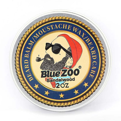 Blue ZOO Men Organic Beard Oil Balm Moustache Wax Styling Beeswax
