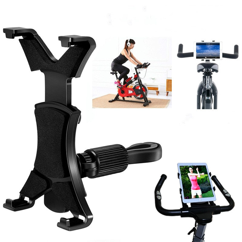 Mount Bracket Gym Treadmill Bike Handlebar Clip Stand Sports Adjustable tablet Holder Universal 7-11 inch for iPad 9.7 10.5 2018