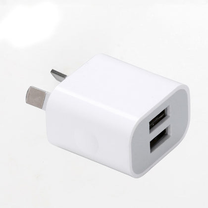 AU Plug Two USB Ports Mobile Phone Charger DC 5V 2A Output Power Adapter Used for iPhone iPad Samsung HTC Mobile Phone Tablet PC