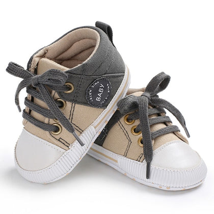 Baby Shoes Classic Canvas Baby Boy Shoes Spring Cotton Straps Stitching Shoes