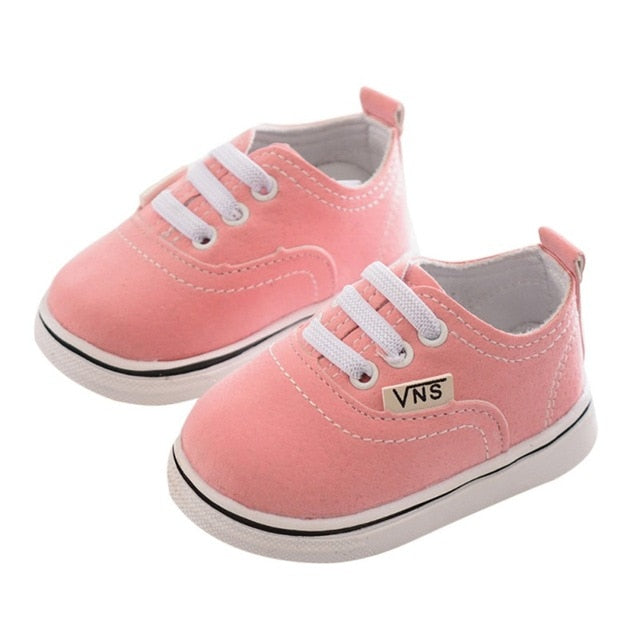 Infant Toddler Baby Boy Girl Spring Autumn Soft Bottom Spring Canvas Shoes