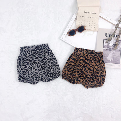 Summer Kids'shorts Korean Leopard-print Bakery Pants