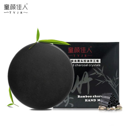 Bamboo Charcoal Handmade Soap Skin Care Whitening Blackhead Remover Acne Treatment Face Wash Hair Care Bath Soap TSLM2