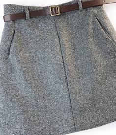 2019 Spring New Arrival Vintage Temperament High Waist A-line Office Skirts Womens With Belt Woolen Mini Skirt Free Shipping