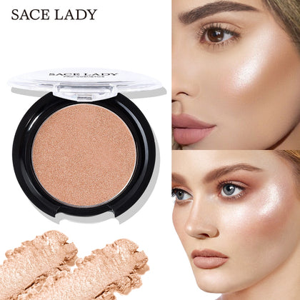 Highlighter Powder 6 Colors Face Iluminator Makeup Glow Kit Brighten Cosmetic