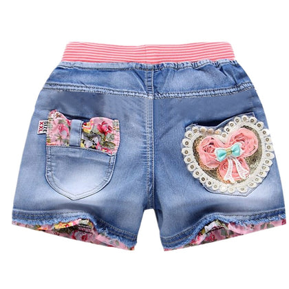 New Summer Kids Short Denim Shorts For Girls Fashion Girl Short