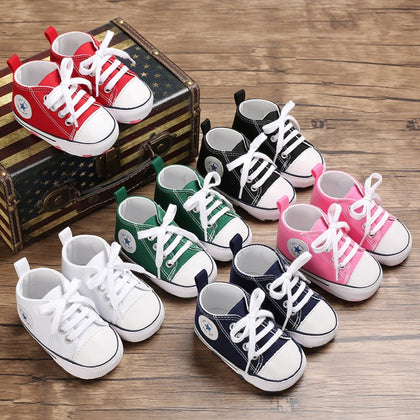 New Canvas Baby Sports Sneakers Shoes Newborn Baby Boys Girls First Walkers Shoes