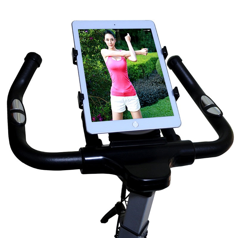 7-11inch Treadmill Tablet Stand Adjustable Buckle Mount Holder Indoor Gym Handlebar on Exercise Bikes Tablet Bracket for iPad LG