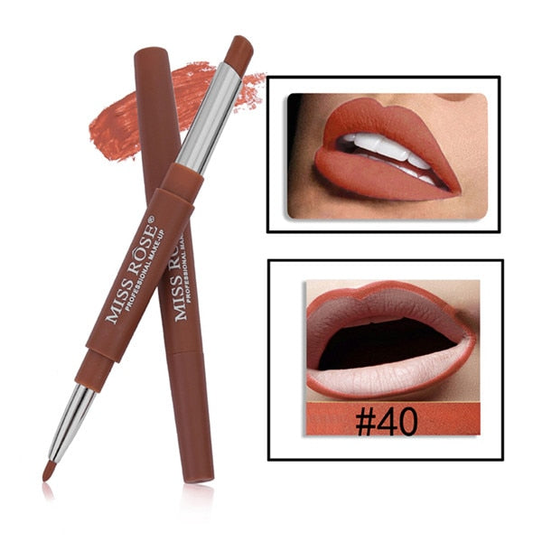 Miss Rose 20 Colors Long-lasting Lip Liner Matte Lip Pencil Waterproof Moisturizing Lipsticks Makeup Contour Cosmetics TSLM2