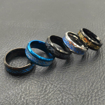 Irish Dragon Titanium Carbide Ring 8mm  Wedding Bands Couple