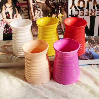 Imitation Rrattan Vase Decor Accessories Modern Plastic Flower Vase Flower Pot 1 Pcs Home Wedding Decor Home Decor Nice Rattan