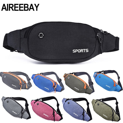 Nylon Waist Pack Men Women Fashion Multifunction Fanny Pack Bum Bag