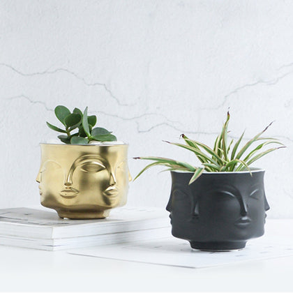 Man Face flower vase home decoration accessories modern ceramic vase for Flowers Pot planters