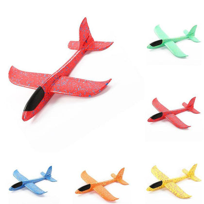 48cm Hand Throw Airplane Toys Epp Foam Outdoor Launch Glider Flexible Plane Kids Gift Toy Free Fly RC Airplane Puzzle Model Toy