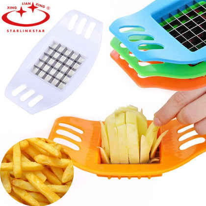 Potato Chip Cutter Stainless Steel Cutter Vegetable French Fry Chopper