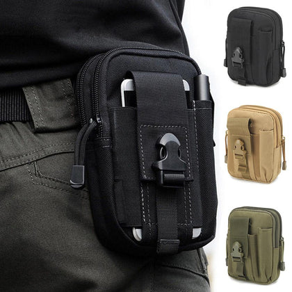 Men waist bag Casual Durable waist pack Belt Canvas