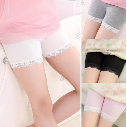 High Quality Girl Safety Shorts Pants Solid Soft Elastic Cotton Leggings